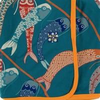 KICKEE PANTS PRINT SWADDLING BLANKET IN OASIS KOINOBORI