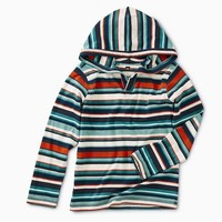 TEA STRIPED HAPPY HOODIE