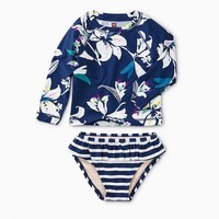 TEA TROPICAL LILLIES RASH GUARD SET