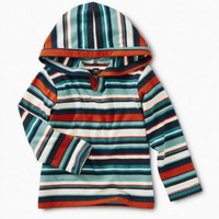 TEA STRIPED BABY HAPPY HOODIE