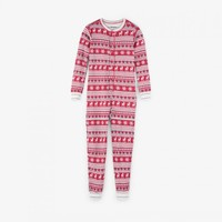 HATLEY FAIR ISLE DEER ORGANIC COTTON ONE PIECE