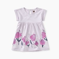 TEA GINGER FLOWER EMPIRE BABY DRESS