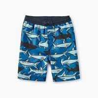 TEA PRINTED SWIM TRUNKS