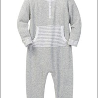 ANGEL DEAR TAKE ME HOME HENLEY COVERALL KNIT