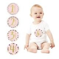 PEARHEAD FIRST YEAR FOIL BELLY STICKERS - PINK