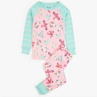 HATLEY SOARING BIRDIES ORGANIC COTTON RAGLAN PAJAMAS SET