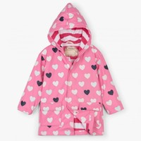 HATLEY COLOR CHANGING LOVELY HEARTS RAINCOAT