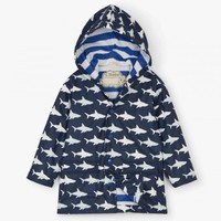 HATLEY COLOR CHANGING SHARK FRENZY RAINCOAT