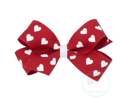 Mini Heart Bow by Wee Ones, perfect for Valentines Day!