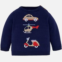 MAYORAL USA MAYORAL EMBROIDERED SWEATER