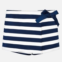MAYORAL USA STRIPED SHORTS WITH BOW