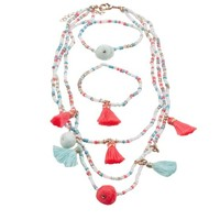 CREATIVE EDUCATION OF CANADA FANTASTIC TASSEL NECKACE & BRACELET SET