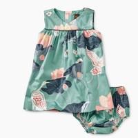 TEA WRAP NECK WOVEN BABY DRESS