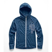 THE NORTH FACE GIRLS TRI-BLEND FULL ZIP HOODIE