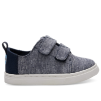 TOMS SHOES SLUB CHAMBRAY TINY TOMS LENNY SNEAKER