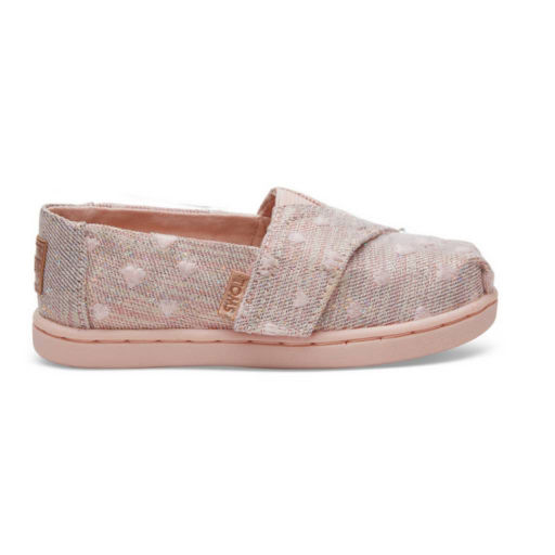 TOMS SHOES CLOUD HEARTSY GLIMMER EMBROIDERY TINY TOMS CLASSICS