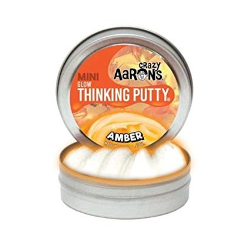 "CRAZY AARON CRAZY AARON'S 4"" GLOW AMBER THINKING PUTTY"