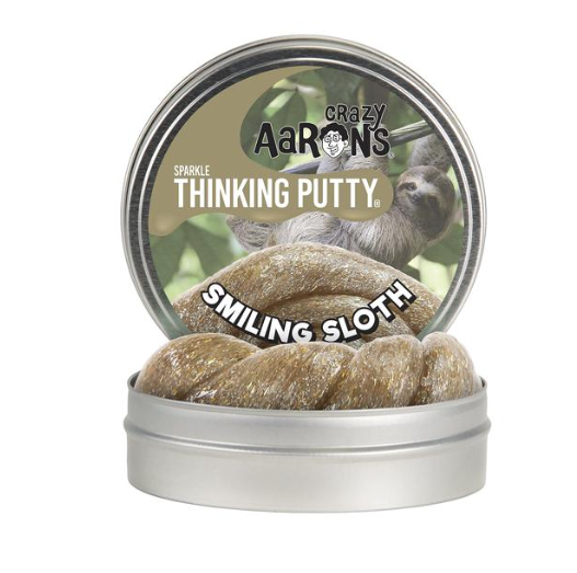 "CRAZY AARON CRAZY AARON'S 4"" SMILING SLOTH THINKING PUTTY"