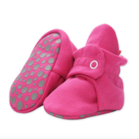 ZUTANO ZUTANO SOLID COTTON BOOTIES WITH GRIPPERS