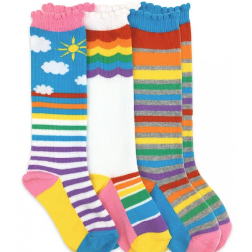 JEFFERIES SOCKS RAINBOW KNEE SOCKS