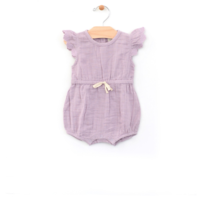 CITY MOUSE MUSLIN TIE WASTE BUBBLE ROMPER