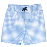 RUFFLEBUTTS, INC. GINGHAM SWIM TRUNKS