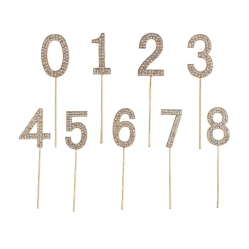 CREATIVE EDUCATION OF CANADA RHINESTONE CAKE TOPPER NUMBERS