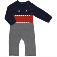 TOOBYDOO LITTLE MONSTERS COTTON KNIT JUMPSUIT