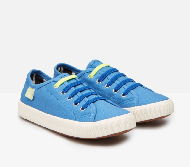COAST PUMP CANVAS LACE UP SNEAKERS
