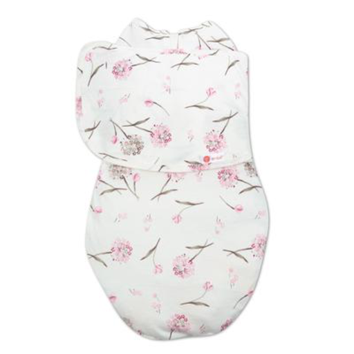 EMBE CLASSIC 2-WAY SWADDLE PINK CLUSTERED FLOWERS