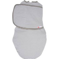 EMBE EMBE 2 WAY SWADDLE GREY STRIPE