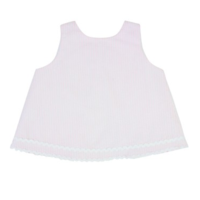 RUFFLEBUTTS, INC. RUFFLEBUTTS PINK SEERSUCKER SWING TOP