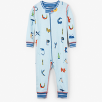 HATLEY ALPHABET ANIMALS ORGANIC COTTON COVERALL
