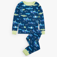 HATLEY GLOW IN THE DARK ANIMAL SUBS ORGANIC COTTON PAJAMA SET