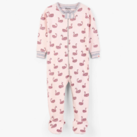 HATLEY SWAN LAKE ORGANIC COTTON FOOTED COVERALL