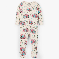 HATLEY FLORAL HEDGEHOGS ORGANIC COTTON FOOTED COVERALL