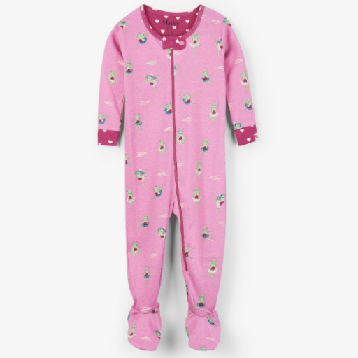 HATLEY PRINCESS FROGS ORGANIC COTTON FOOTED COVERALL
