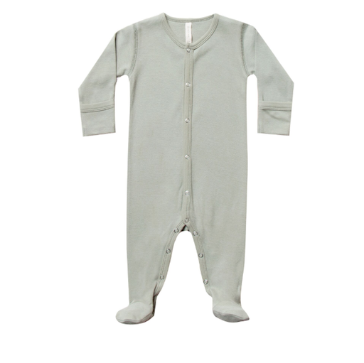 QUINCY MAE ORGANIC SNAP FOOTIE