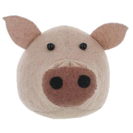 FIONA WALKER FIONA WALKER ENGLAND SMALL PIG HEAD WALL MOUNT