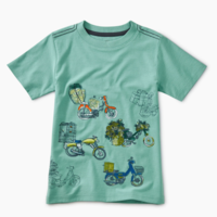 TEA SCOOTER TRAFFIC GRAPHIC TEE