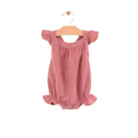 CITY MOUSE MUSLIN BUBBLE ROMPER