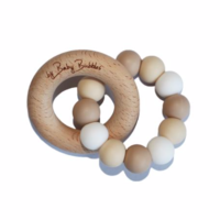 BABY BUBBLES TOASTED MARSHMALLOW TEETHING RING