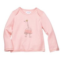 MUD PIE PINK FUR GOOSE TEE