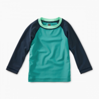 TEA COLOR BLOCK LONG SLEEVE BABY  RASH GUARD