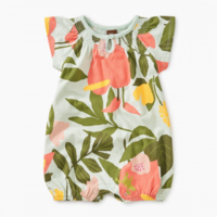 TEA PRINTED SMOCKED ROMPER