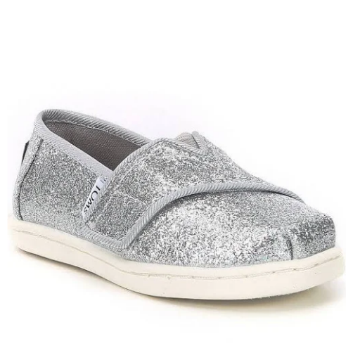 TOMS SHOES CLASSIC TINY TOMS GLIMMER