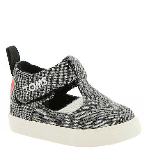 TOMS SHOES SLUB CHAMBRAY SWEETHEART EARLY WALKER JOON FLATS