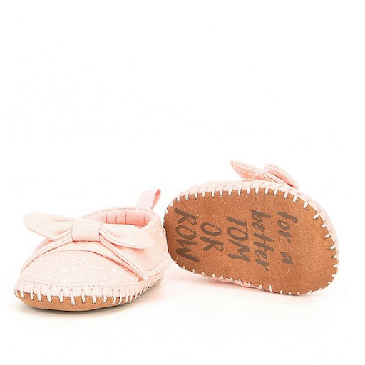 TOMS SHOES CANVAS BOW TINY TOMS CRIB ALPARGATAS