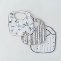 LITTLE UNICORN FOREST FRIENDS COTTON MUSLIN CLASSIC BIB 3 PACK