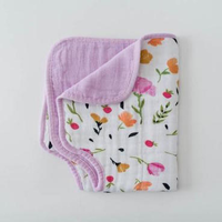 LITTLE UNICORN BERRY & BLOOM COTTON MUSLIN BURP CLOTH